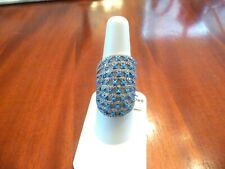 STERLING SILVER BLUE TURQUOISE STATEMENT RING