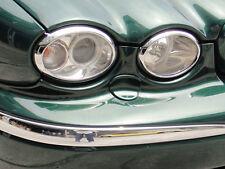 Jaguar X-Type Chrome Headlamp Surrounds Trims 2001 to 2009 X Type