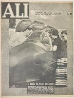 ALI SETTIMANALE AVIAZIONE 10 AGOSTO 1952 STEFANUTTI URSINUS MAGANOLI VOLO AGADIR