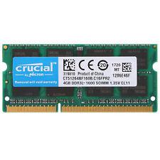 4GB de 1600 Mhz PC3L-12800 SO-Dimm 1.35V DDR3L portátil memoria de Crucial RU0
