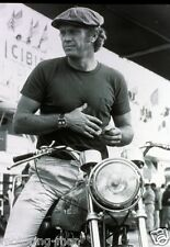 STEVE MCQUEEN NORTON MOTORCYCLE TAG HEURE MONACO WATCH LE MANS 24 PHOTOGRAPH