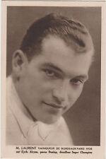 M . LAURENT VAINQUEUR DE BORDEAUX - PARIS 1938 -  vélo - cyclisme -