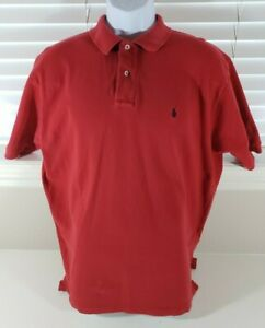 Polo By Ralph Lauren Men's Size Large Polo Short Sleeve Shirt - Embroidered Logo