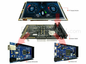 """5""""TFT Display Arduino Due Mega UNO LCD Shield w/Capacitive Touch Screen 800X480"""