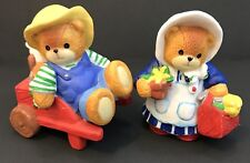 Lucy & Me Boy/Girl Gardner Bears; (Girl is Signed); Free Priority Shipping!
