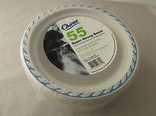 55 jetables papier solide Alimentaire Bols PLATS TRAITEUR nouveau