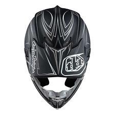 Troy Lee Designs SE4 Pinstripe Matte Black X-Large XL MX Helmet Motocross TLD