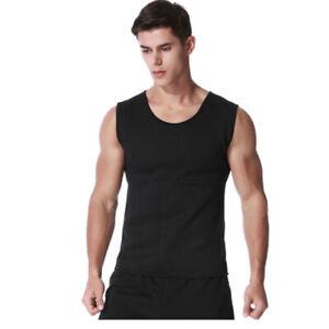Men Neoprene Sweat Vest Slimming Sauna Waist Trainer Yoga Gym Body Shaper