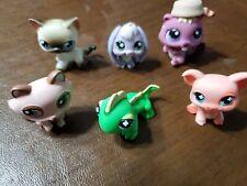 Little Pet Shot Lot Of 6 Pets Pig, Beaver, Fox, Bunny, Lizard, Siamese Cat