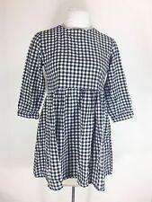 Black & White Checkered Dress Retro 1990s Style Baby Doll Plaid Grunge Revival