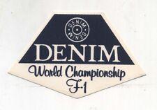 Adesivo FORMULA 1 DENIM World Championship F1 sticker Formule Autocollant Osella
