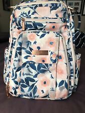 JuJuBe Be Right Back Backpack Diaper Bag Whimsical Watercolor