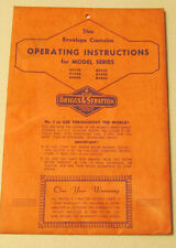Briggs & Stratton Operating Instructions 60500,61500,80900,80500,8 1500,81900