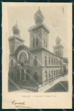 Torino Città Judaica Jewish Synagogue postcard KF0560