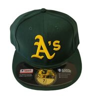 Oakland A's Athletics Size 7 1/2 New Era 59Fifty Fitted MLB Baseball Cap Hat