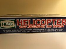 Hess Helicopter With Motorcycle and Cruiser 2001 (discoloration)