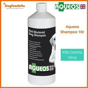Aqueos Anti-bacterial Dog Shampoo, 1 Litre Free Postage - anti-viral -Dogfoods4u