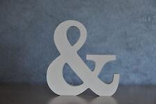 3D Buchstaben & Und-Zeichen weiß Deko Buchstaben 10 cm hoch Modern Sprüche