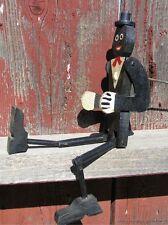 Antique Folk Art Black Americana Ragtime Rastus Style Dancing Toy with Handle