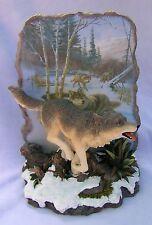Westland Giftware Running Wolf Tree Snow Figurine #7976 James R Smith Nib