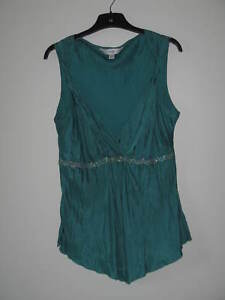 Turquoise sleeveless sateen effect top by Next, very pretty colour size 8