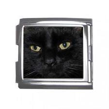 Black Cat Eyes 18mm Mega Link Italian Charm