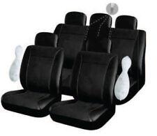 Housse pour siege voiture auto en simili cuir noir complete compatible airbags