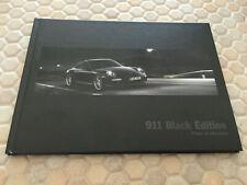PORSCHE 911 997 LIMITED BLACK EDITION PRESTIGE BOXED SALES BROCHURE 2011 USA Ed.