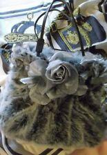 DESMO- Vintage- Handtasche aus hochwertigem Kunstfell mit Seidenblütenbesatz