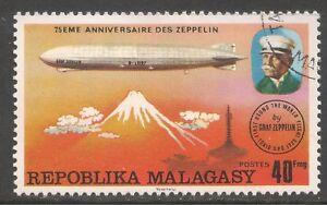 Malagasy Republic #545 (A152) VF USED - 1976 40fr LZ-127 Over Fujiyama, Japan