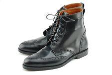 NEW W BOX | ALLEN EDMONDS 12D BLACK SHELL CORDOVAN DALTON BOOTS