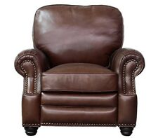 NEW Barcalounger Longhorn II Shoreham Chocolate Leather Manual Chair Recliner