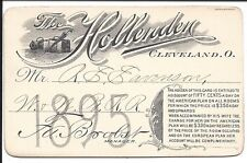 Discount Card for 1895 From the Hollenden Hotel in Cleveland, Ohio
