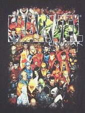 Marvel Comic Books All Super Heroes Fan Black T Shirt XL