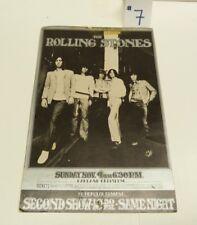 VTG CONCERT LOBBY CARD HANDBILL FLYER: 1969 ROLLING STONES OAKLAND -SHL1-B1#7