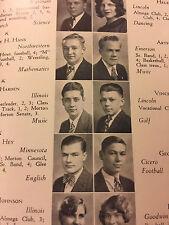 Vintage 1930 Mortonian High School Yearbook. J. Sterling Morton High School