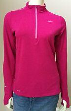 Womens Nike Element Half Zip Dri Fit Pullover Running Workout Shirt Top S (A11)