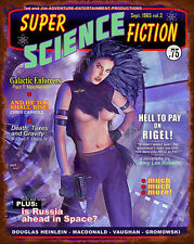 Science Fiction Magazine Metal Sign - Hand Made in the USA with American Steel