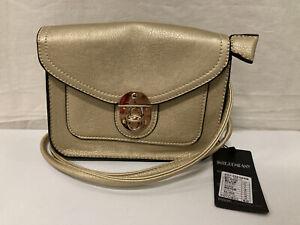 Tagged INTE COMPANY Cross Body Bag Gold Mini Satchel (001)