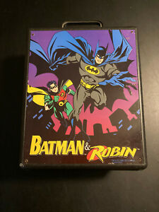 1996 DC Comics Batman & Robin Action Figure Carry Case Kenner PN45517600 Unique