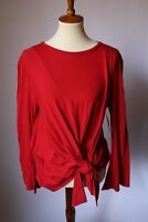 Abound Tie Front Long Sleeve Red Women's Shirt Size Medium (M) NWT