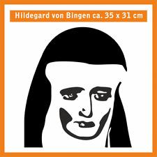 HILDEGARD VON BINGEN Wandtatoo, ca. 35 x 31 cm, Hochleistungsfolie mit Montagep.