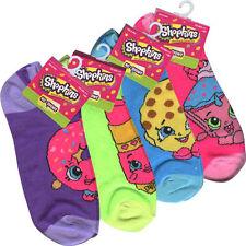 4 PAIR Shopkins Girls Women Anklet Socks Size 9-11 Shoe Size 4-10 ASSORTED
