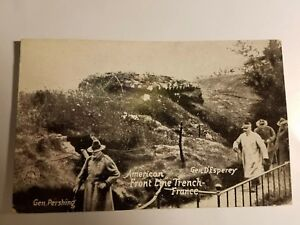 WWI Chicago Daily News postal Front Line Trench Pershing Esperey FRANCE military