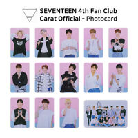 SEVENTEEN - Fan Club Carat 4th term Goods : Official Photocard KPOP