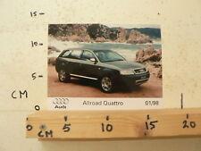 AF085-PHOTO FACTORY ? AUDI ALL ROAD QUATRRO 1/98