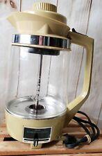 Vtg.Sears Roebuck 10 CUP ELECTRIC PERCOLATOR Glass Pot 360677800 HARVEST GOLD