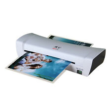 A4 220W Laminator Hot & Cold Roll Laminating Machine White for Photo Paper Cards