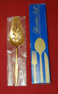 Florentine Gold 24K Gold Electro Plated Slotted Cake or Pie Server New in Box