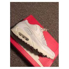Da Uomo Nike Air Max 90 Bianco Taglia 8 USATO